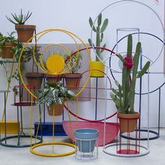 """""""Porch"""" is a rotating project based installation space at Paul Loya Gallery  in Culver City, CA. I put together a series of sculpturally driven pieces  for the installation for Spring 2015. The work is predominantly powder  coated steel, incorporating terra cotta pots and surfaces for p"""