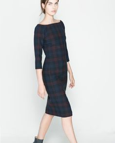 ZARA - WOMAN - FITTED CHECKED DRESS - more → http://myclothingwebsitesforwomen.blogspot.com/2012/06/zara-woman-fitted-checked-dress.html