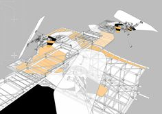Superimposed Landscapes – Fragments of misperception by Andrew Walker. Image courtesy of The Bartlett School of Architecture Architecture Program, Architecture Drawings, Architect Sketchbook, Bartlett School Of Architecture, Architecture Student, Urban Analysis, Photoshop, Roof Design, Design Process