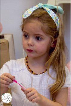 Bandeau Personnalisable Recto Verso de Petite Fille Lucy Jeanne Collection - Baptême Mariage Cortège