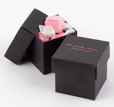 Black Favor Boxes - Personalized