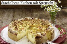 Stachelbeer-Kuchen mit Streuseln
