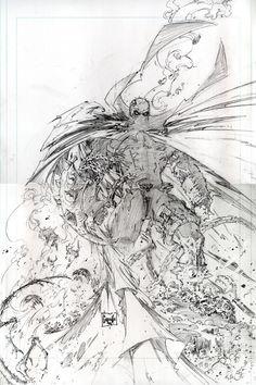 Greg Capullo Future Spawn Cover 2 Pencils