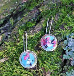 Earrings from Arizona Green Tea Cans  #Asian #SodaCanJewelry #Metal #Recycle #Stash #FoundObjects