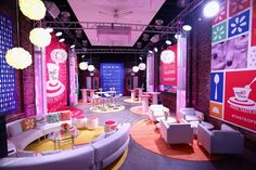 The pop-up was open from January 30 to February 1. Inside, the space was decked with bright colors and sleek white lounge furniture. Photo: Paul Zimmerman/Getty Images for Yoplait Greek
