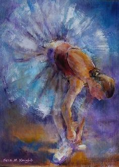 Ballet Dancers - Ballet Shoes - Gallery of Dance Paintings by Woking Surrey Artist Sera Knight - Ballet Classes