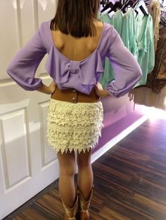 Lace crochet skirt $40
