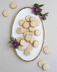 This Chic, Modern Wedding Took Place in a Los Angeles Loft | Martha Stewart Weddings - An array of cookies sweetened up the reception dessert table, including two shortbread versions: coconut lime and cinnamon.
