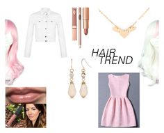 """hair trend 2: pink and white"" by merlia-yg ❤ liked on Polyvore featuring beauty, WithChic, Miss Selfridge, New Directions, Dolce Vita, hairtrend, rainbowhair and pinkandwhite"