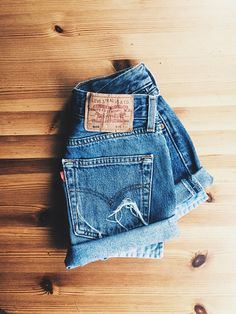 LEVIS Denim Shorts High waisted cut offs Cuffed mom jeans Vintage Summer festival look Wrangler Lee frayed legs/ Made to order