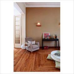 bedroom paint color  Love the wooden floor