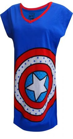 WebUndies.com Marvel Comics Captain America Logo Nightshirt