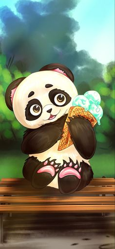 Cute Panda, Pretty Wallpapers, Iphone Wallpaper, Mickey Mouse, Insects, Disney Characters, Fictional Characters, Bear, Cartoon