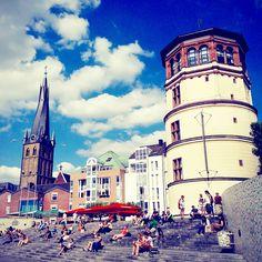 Het gezellige centrum van #Dusseldorf