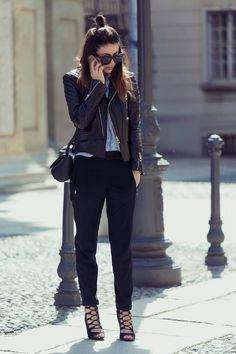 SOMETHING NEW - MINIMAL OUTFIT Leather Jacket: Balenciaga  Shirt: Zara Pant: Balenciaga Bag: Givenchy Pandora Box  Sandals: Ovs Sunglasses: Valley-eyewear