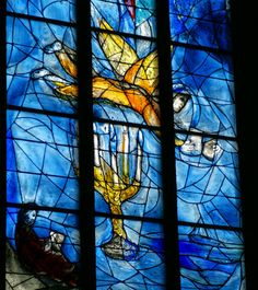 My favorite stained-glass windows in Europe - St. Stephen's in Mainz, Germany.  Marc Chagall