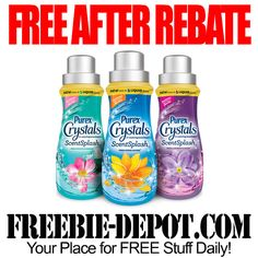 FREE AFTER REBATE – Purex Crystals ScentSplash Fabric Booster – FREE In-Wash Fragrance Booster – Exp 12/31/15  #freebate