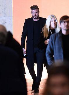 David Beckham and Kids at New York Fashion Week 2015 | POPSUGAR Celebrity