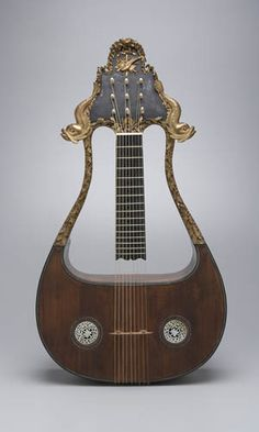 Lyre-Guitar -  French, 18th century. Jean Charles Marseilles, 1785. | Yale University Collection of Musical Instruments