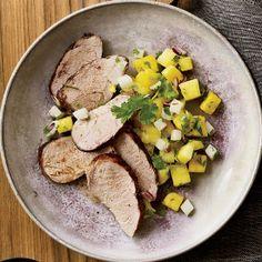 Jerk Pork Tenderloin with Pineapple Salsa