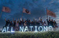 #NoDapl protesters display a lighted sign at Sacred Rock camp in North Dakota on September 2, 2016. (Photo: Joe Brusky)