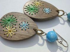 Handmade earrings, so pretty!