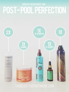 Visit thebeautydepartment.com to read about our favorite way to protect your hair after you've been in pool/ocean water!