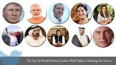 The Top 10 World Political Leaders With Highest Following On Twitter Inbound Marketing, Content Marketing, Social Media Marketing, Digital Marketing, Political Leaders, Politics, Social Media Updates, Twitter Followers, Competitor Analysis