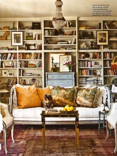 Living room from a home in Garden District, revamped post-Katrina---from April 2012 Southern Living