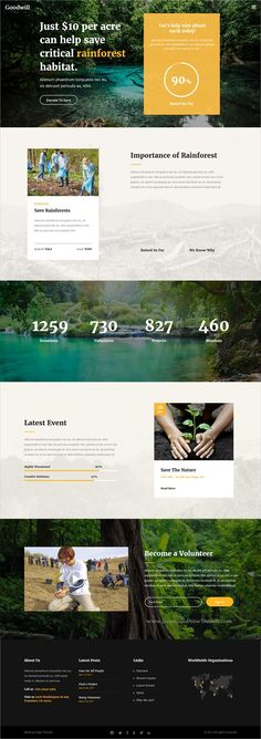 Buy Goodwish - Charity & Nonprofit Theme by Edge-Themes on ThemeForest. Goodwish is a modern and carefully designed theme geared specifically towards all charity and nonprofit organization. Great Website Design, Website Design Layout, Website Design Inspiration, Layout Design, Web Layout, Website Ideas, Fundraiser Themes, Charity Branding, Fundraising Sites