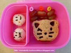 #Kitty #Cat Lunch made with @CuteZcute Animal Friends Cutter