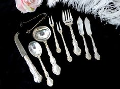 Birks Regency Plate Louis de France 9 Piece Serving Set, Birks Louis de France 9…