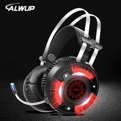 2 x Luxury Leather Headset earphone with Microphone for PS3//PC Black and Red EK