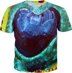 Abstract Art Blue Heart Men's T-shirt. Express yourself with this bright blue colorful abstract art paintings men's tee.  For more fantastic products with this and other awesome designs, check out Bipolar Mom Designs HERE https://www.rageon.com/a/users/bipolarmomdesigns JOIN ALL ABOARD!