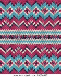 Knitted background in Fair Isle style in four colors by SalomeNJ, via ShutterStock