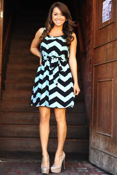 one of the cutest chevron dresses I have seen so far!