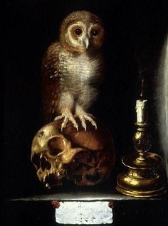 Vanitas with owl, Anonymous, 17th century