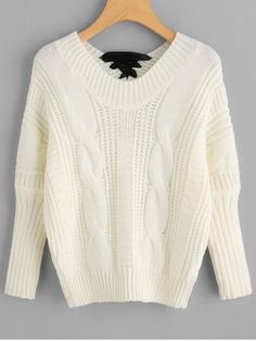 GET $50 NOW | Join RoseGal: Get YOUR $50 NOW!https://www.rosegal.com/sweaters-cardigans/back-bowknot-embellished-cable-knit-sweater-1444402.html?seid=6340016rg1444402