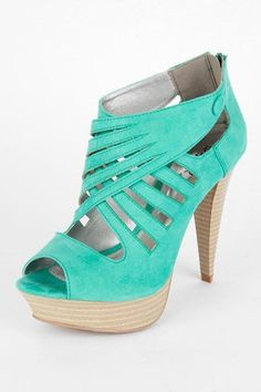 turquois suede shoe