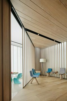 Ohlab injects softness into a Majorcan dental clinic - News - Frameweb Office Interior Design, Best Interior, Office Interiors, Ceiling Design, Wall Design, House Design, Medical Design, Commercial Design, Arquitetura