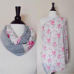 Nursing cover floral nursing scarf breastfeeding by KayBellaChic