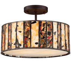 Earth Tone Art Glass Ceiling Light | 55DowningStreet.com