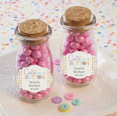 Personalized Milk Jar Baby Shower Favors - Cute As A Button
