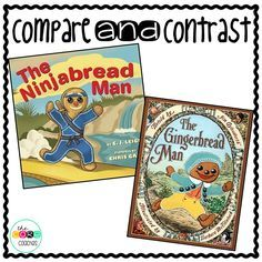 Compare and Contrast similarities and differences with The Ninjabread Man and The Gingerbread Man.