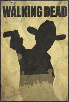 Holding Hope - The Walking Dead Poster by Edwin Julian Moran II