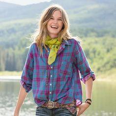 Joyful Plaid Shirt - Sundance $168