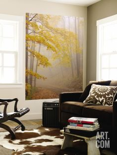 Fog and Autumn Foliage, Great Smoky Mountains National Park, North Carolina, USA Wall Mural by Joanne Wells at Art.com