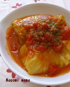 トマトで煮込んだロールキャベツ