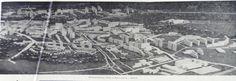 Makieta dzielnicy Czuby z 1976 roku ze szpitalem w prawym dolnym rogu.