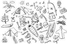 Camping doodles collection by @Graphicsauthor